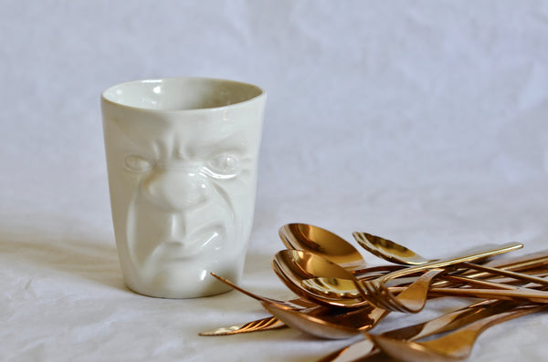 Grumpy face mugs stocked in Singapore | Handmade ceramics