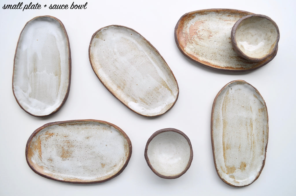 Handmade raw rustic earthenware plates - Eat & Sip ceramics hellorat project