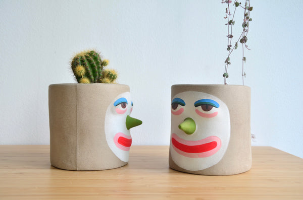Group Partner Balarama planters in Singapore - handmade pot
