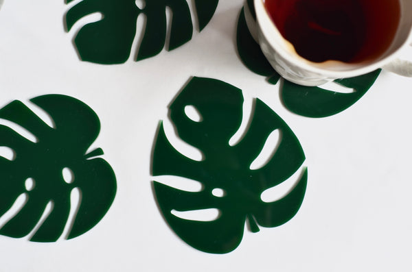Monstera coasters - Perfect homeware gifts plant lady Singapore