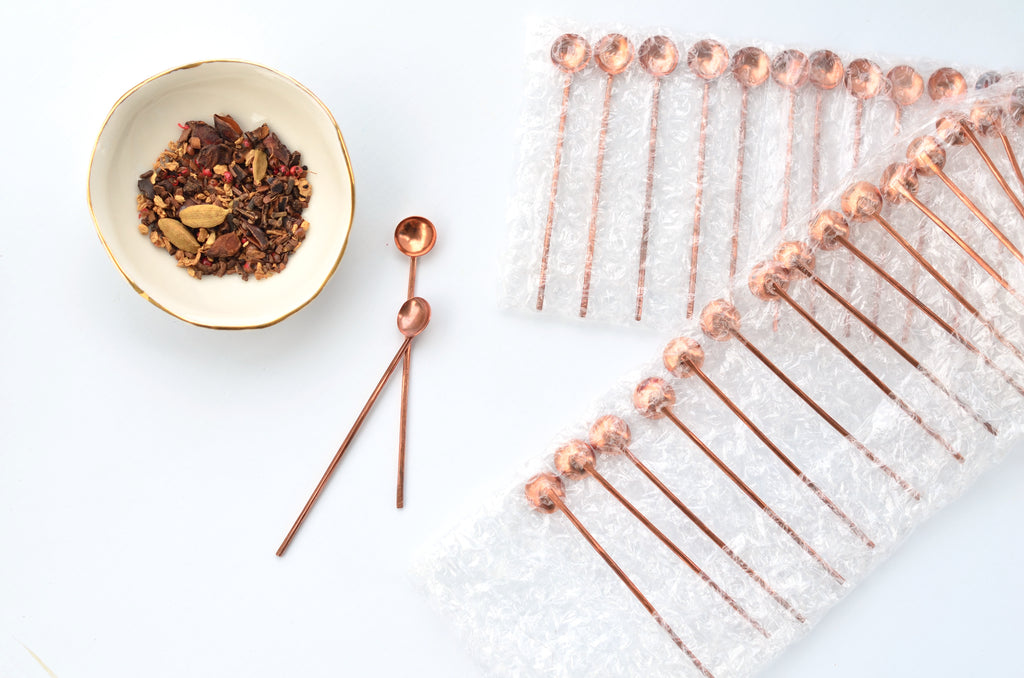 Unique copper spoon gift - Tableware Singapore