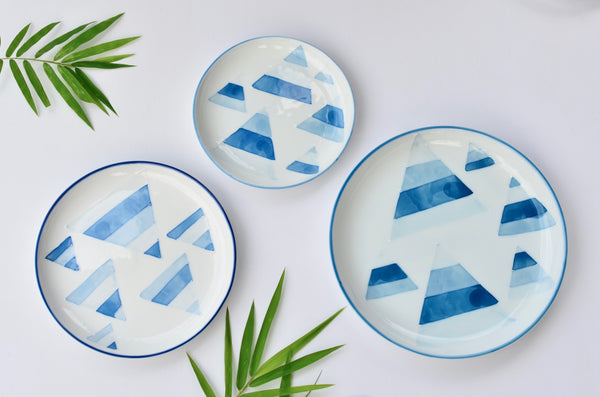 Hand painted porcelain plate | Hand made ceramics in Singapore