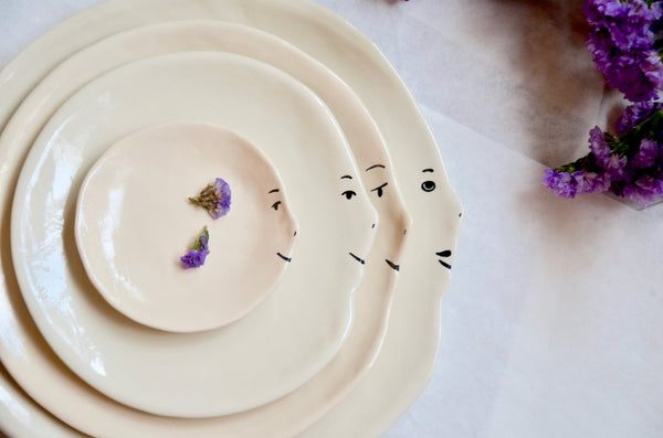 Handmade ceramics Singapore tableware | Eat & Sip nesting plates