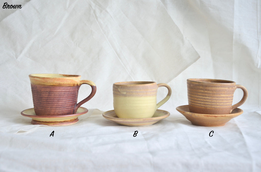 Eat & Sip wheel thrown cups - Handmade tableware ceramics in Singapore