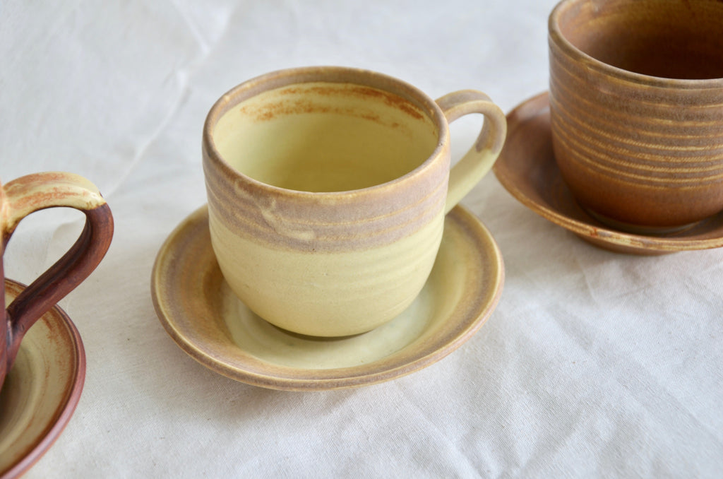 Handcrafted wheel thrown coffee cup - handmade tableware in Singapore