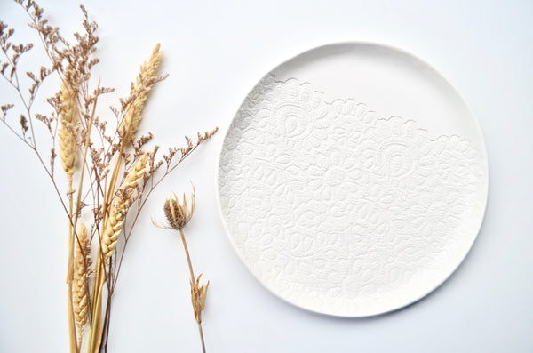 Unique lace plate housewarming gift singapore - Eat & Sip
