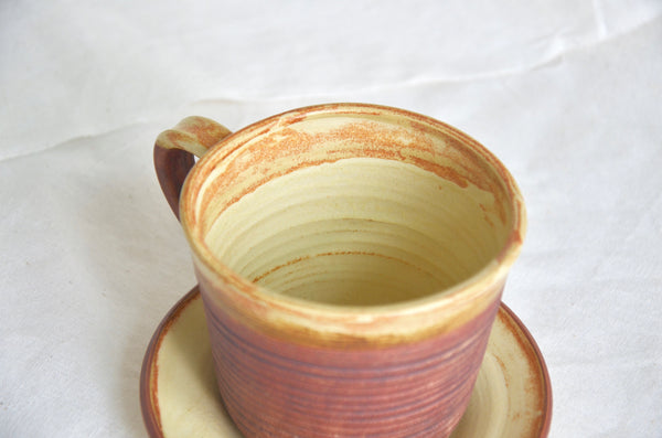 Handmade ceramic latte cup Singapore - wheel thrown