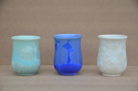 Glass blown cups