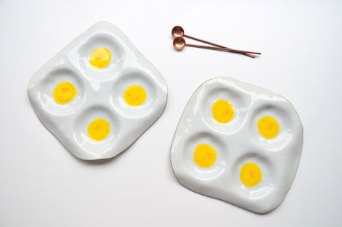 Unique handmade egg plates Singapore - Tableware Singapore