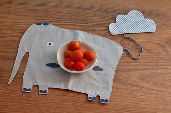 Hand made elephant table mat for children | Eat & Sip Singapore