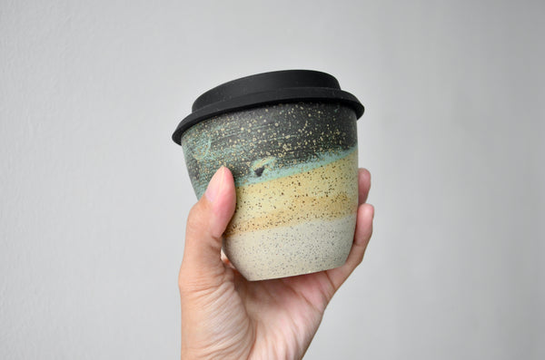 Handmade takeaway cup pottery | Eat & Sip ceramics