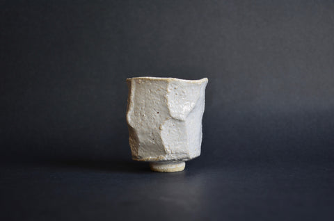 Japanese kurinuki tea cup by Carragh Amos Singapore | Handmade ceramics