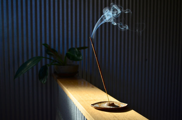 Handmade stoneware seer incense holder - Eat & Sip ceramics in Singapore