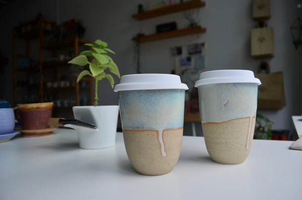Wheel-thrown takeaway cup pottery | Eat & Sip handmade ceramics Singapore