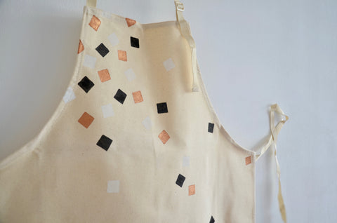 Handprinted aprons by Jackie Fazekas in Singapore