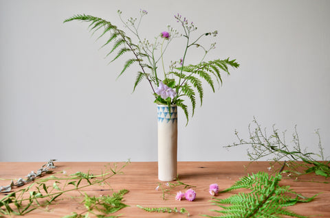 Handmade ceramic bud vase | Eat & Sip tableware Singapore