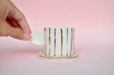 Handmade porcelain espresso cup - Eat & Sip ceramics in Singapore