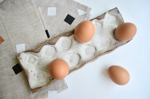 Handmade ceramic egg tray | Eat & Sip pottery Singapore