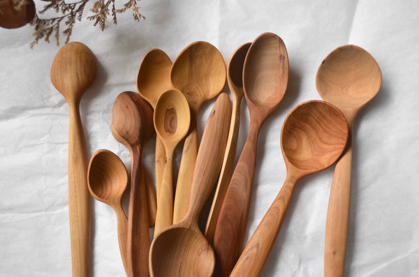 Hand-carved everyday wooden spoon Singapore - Eat & Sip