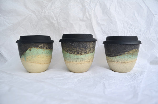 Handmade wheel-thrown takeaway cup pottery | Eat & Sip ceramics