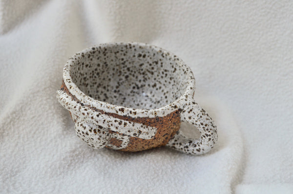 Rachel Charge | Handbuilt pottery Singapore, buff raku