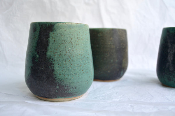 Wheel-thrown wine cup pottery | Eat & Sip handmade ceramics Singapore