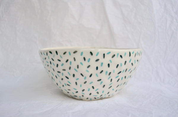 Hand pinched hand painted ceramics bowl tableware Singapore