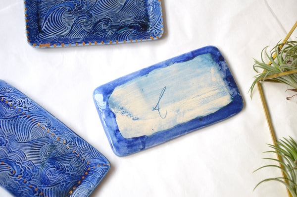 Handmade ceramic wave plate Singapore | Eat & Sip pottery