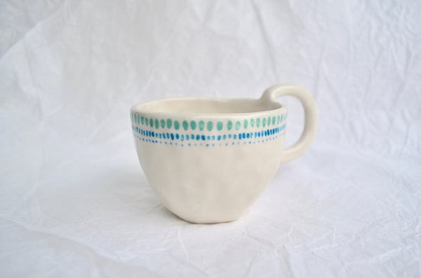 Hand pinched tea cup Singapore tableware