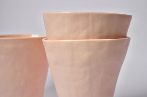 Hand-built beaker coiling | Unique tableware gifts