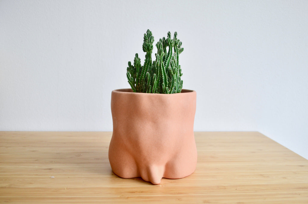Group Partner nude booties boy planters in Singapore - Eat & Sip handmade pot