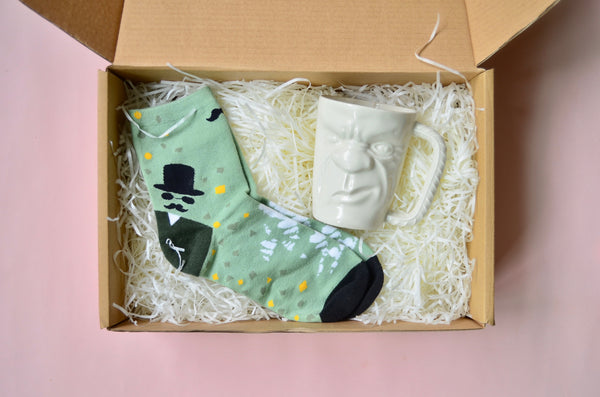Cute gift set handmade mug tumbler - Eat & Sip