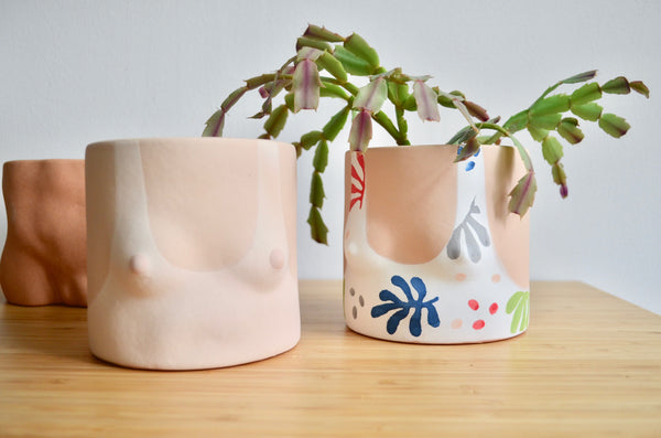 Group Partner Cutouts Top pot | Handmade planter Singapore