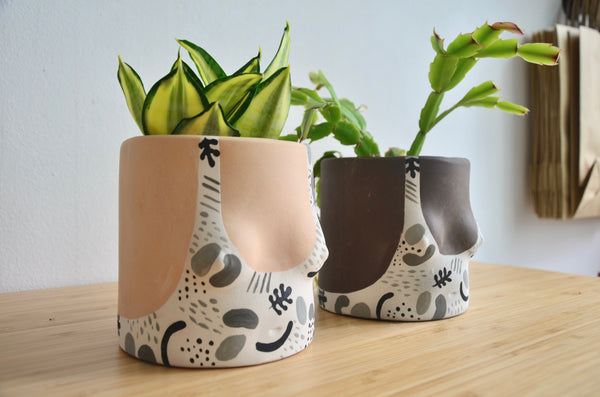 Group Partner confetti planters in Singapore - Eat & Sip handmade tableware