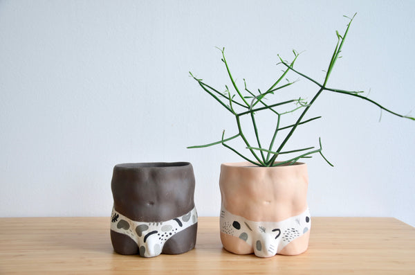 Group Partner confetti planters in Singapore - handmade pot