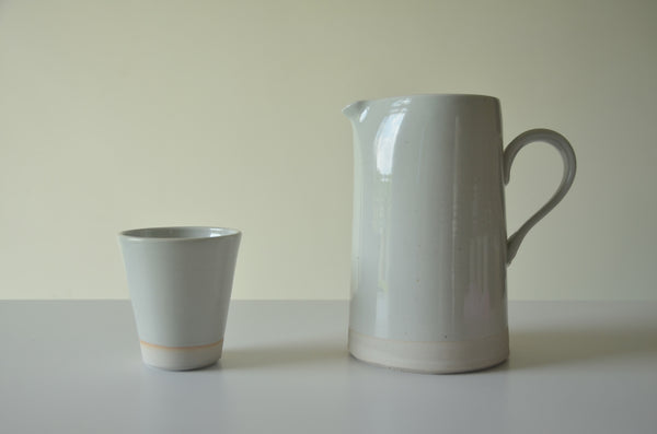 Ceramic handmade pitchers by WRF lab stocked in Singapore
