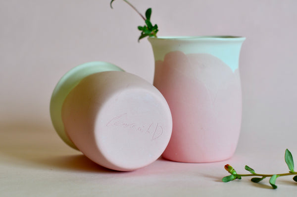 Handmade tableware Singapore - Eat & Sip porcelain tumbler