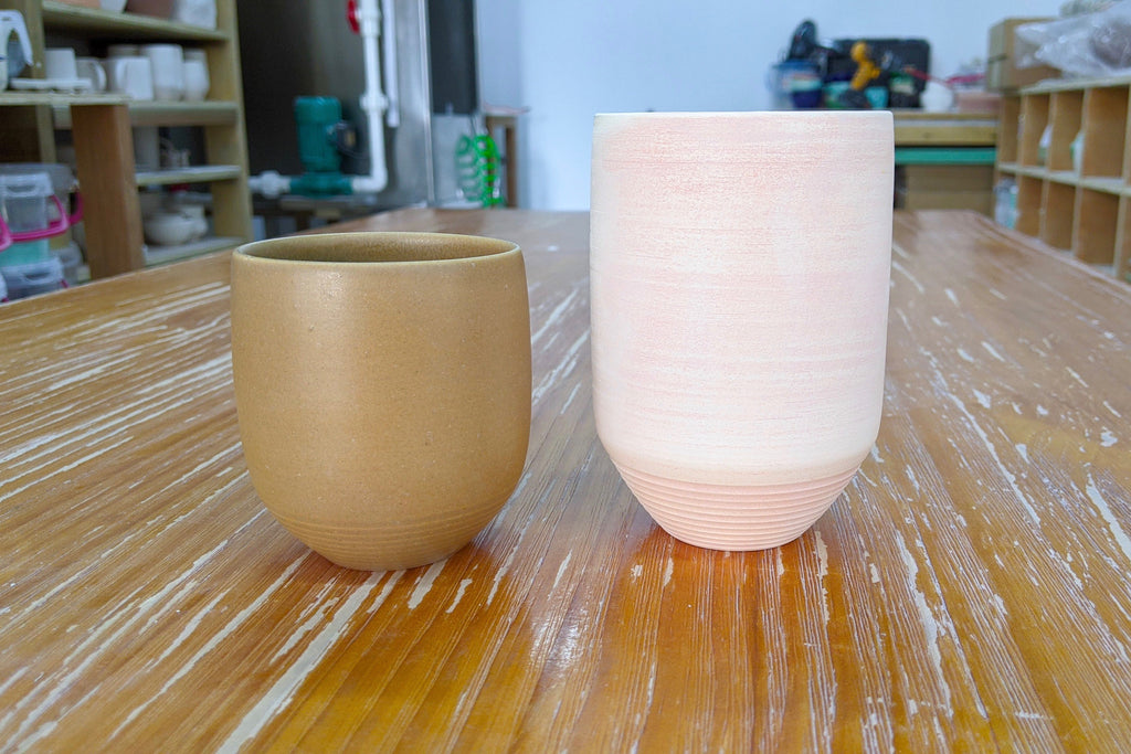 Unique handcrafted pottery tumblers | Lerae Lim Singapore