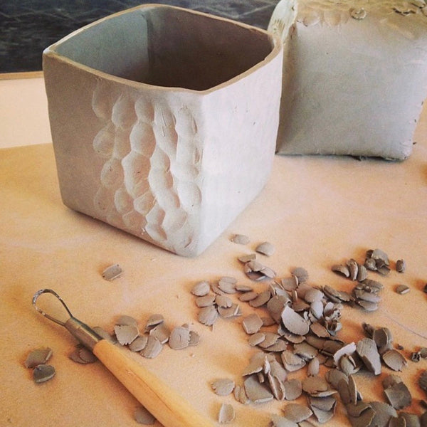 Handmade ceramic indoor planter by Rossella Manzini| Eat & Sip pottery Singapore