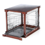 Brown 2-in-1 End Table And Pet Crate