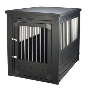 2-in-1 End Table and Pet Crate - Clever and Modern Home and office furniture. Pet Furniture