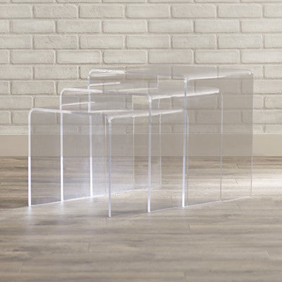 3 Modern Acrylic Nesting Tables - Clever and Modern Home and office furniture. Pet Furniture