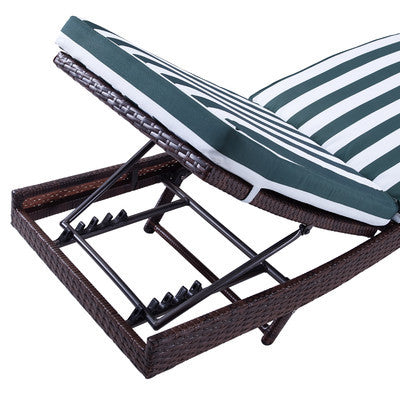 Santorini Patio Chaise Lounger With Cushion - Clever and Modern Home and office furniture. Pet Furniture
