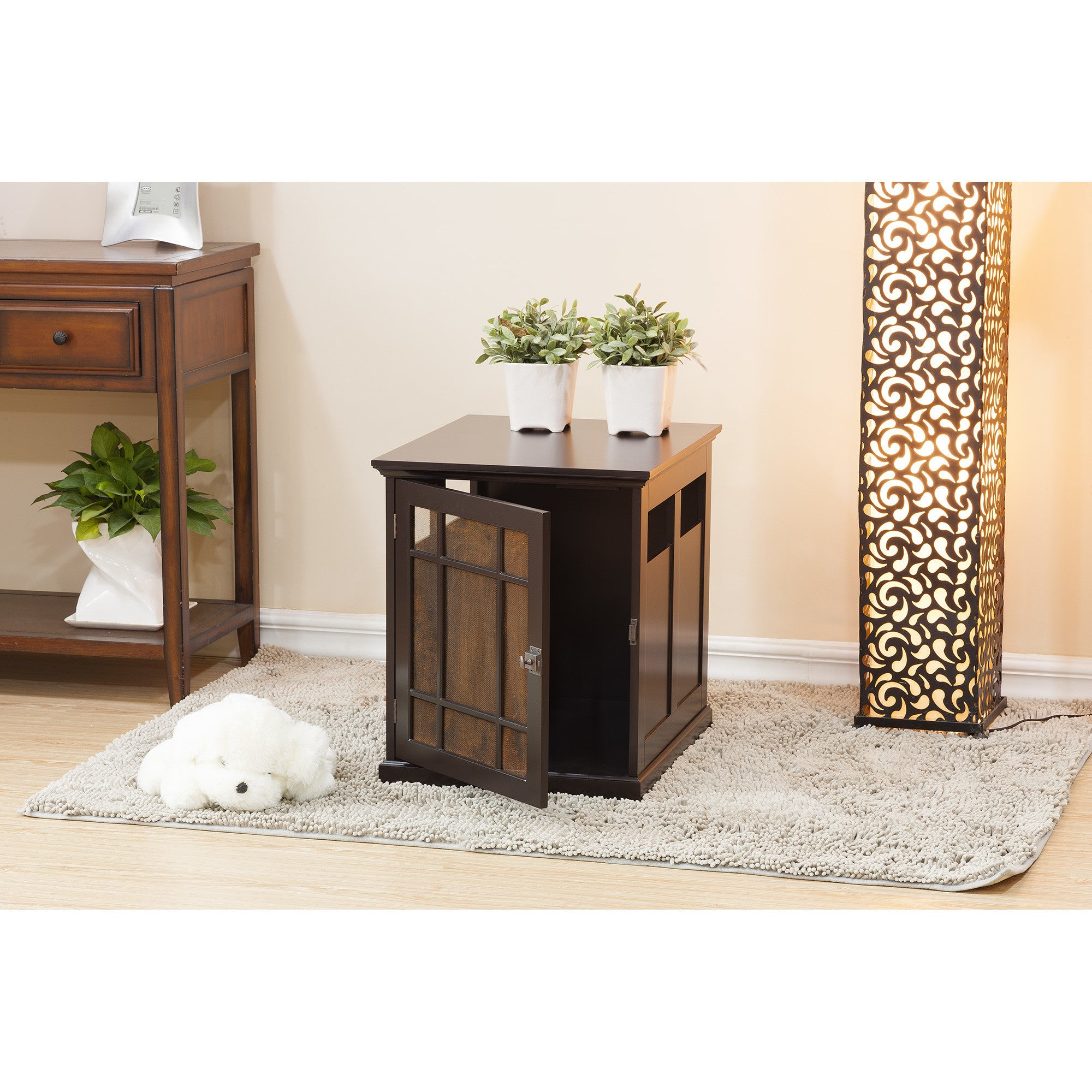 Classic Elegance Pet Crate Table - Clever and Modern Home and office furniture. Pet Furniture
