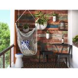 Bungalow Cotton Rope Chair Hammock + 2 Cotton Throw Pillow - Clever and Modern Home and office furniture. Pet Furniture