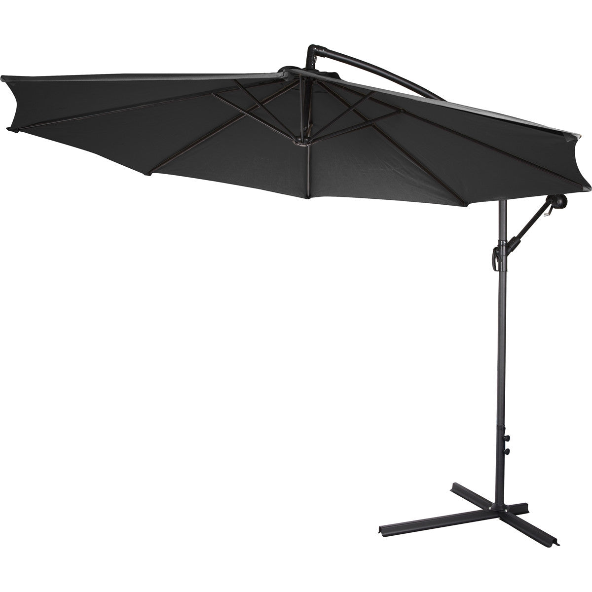 C & M Black Cantilever Hanging Patio Umbrella 10' - Clever and Modern Home and office furniture. Pet Furniture