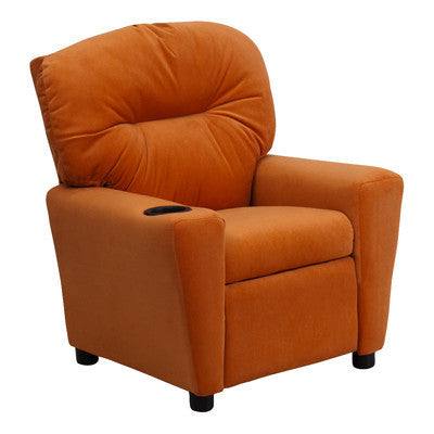 C & M  Recliner chair for Kids in Orange - Clever and Modern Home and office furniture. Pet Furniture