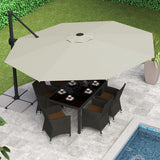 Cali 11' Cantilever Patio Umbrella - Clever and Modern Home and office furniture. Pet Furniture