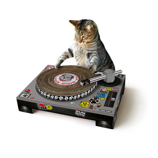 Cat Scratching Mat with Spinnable DJ deck - Clever and Modern Home and office furniture. Pet Furniture