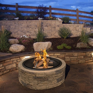 Modern Stone Wood Burning Fire Pit - Clever and Modern Home and office furniture. Pet Furniture